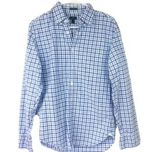 J.Crew Multi-Gingham Blue Slim Button-Down
